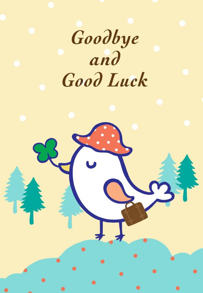 Free Printable Goodbye And Good Luck Greeting Card | Littlestar | Free Printable Good Luck Cards