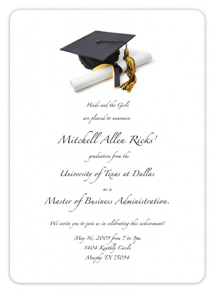 Free Printable Graduation Invitation Templates 2013 2017 | Places To | Free Printable Graduation Cards