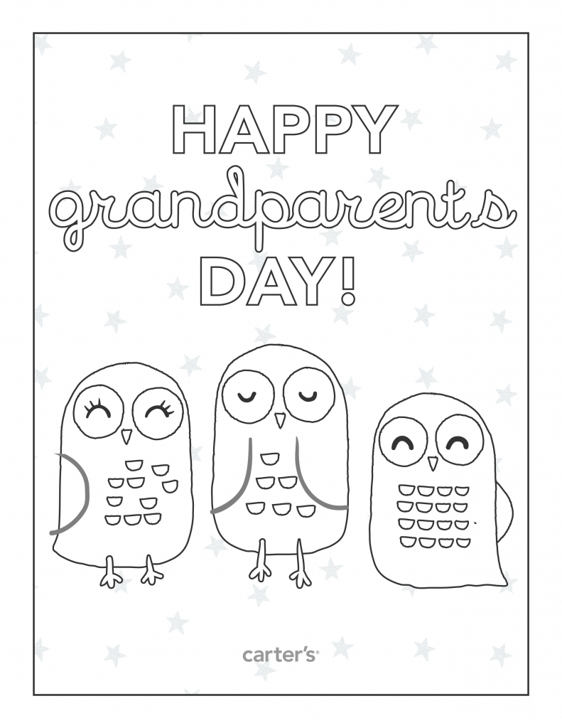 Free Printable Grandparents Day Coloring Pages From Carter's | Grandparents Day Cards Printable Free