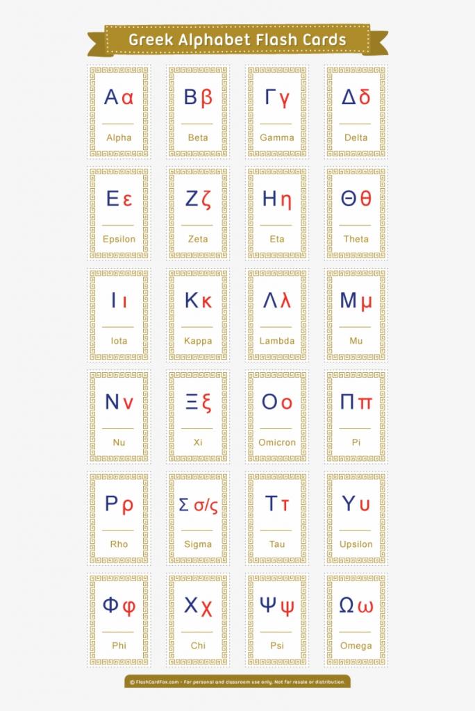 Free Printable Greek Alphabet Flash Cards - Koine Greek Alphabet   Greek Flash Cards Printable