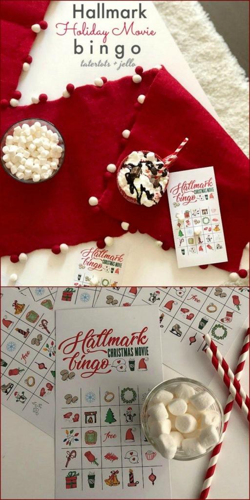 Free Printable Hallmark Channel Holiday Bingo Game Cards | Diy Ho Ho | Free Printable Hallmark Cards