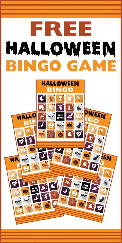 Free Printable Halloween Bingo Cards | Catch My Party | Printable Halloween Bingo Cards