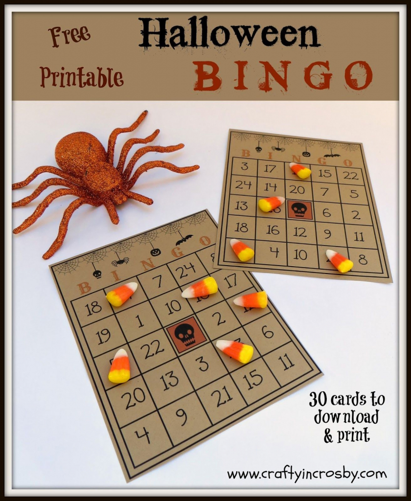 Free Printable Halloween Bingo Game With 30 Cards, Call Sheet And | Free Printable Bingo Cards And Call Sheet