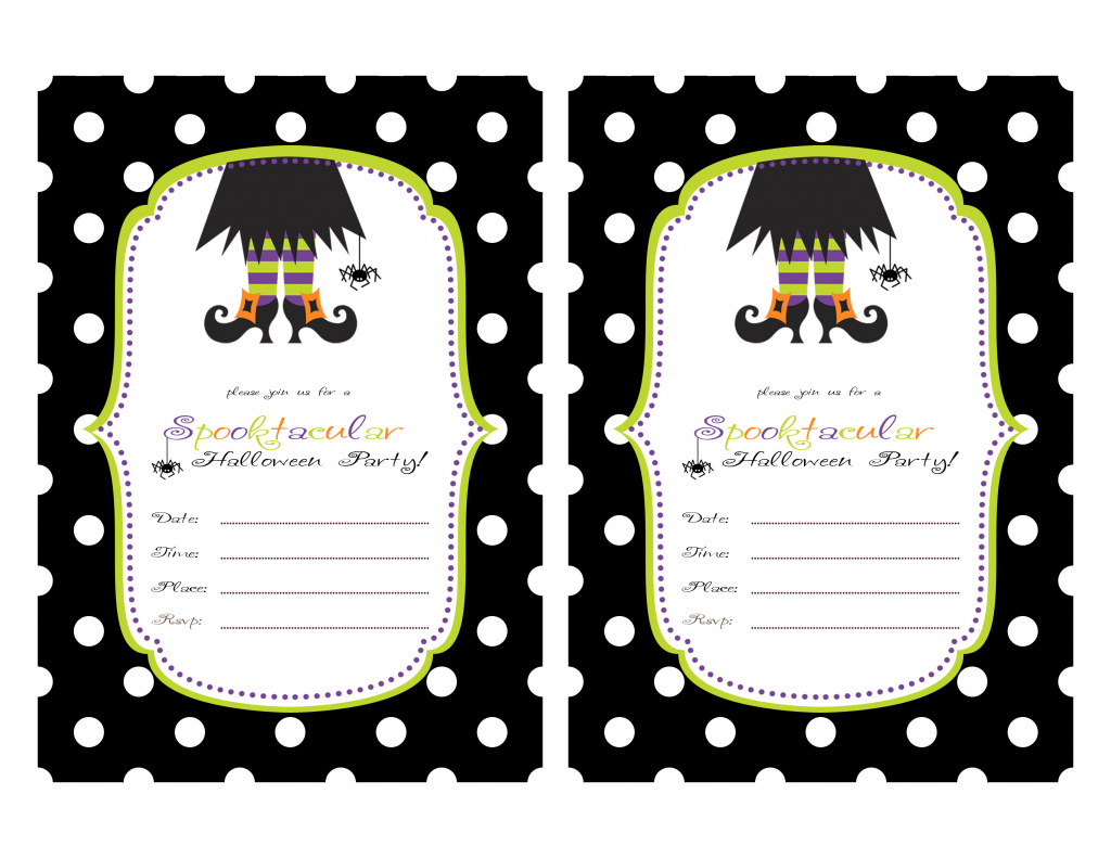 Free Printable Halloween Invitations Templates - Kleo.bergdorfbib.co   Free Printable Halloween Cards