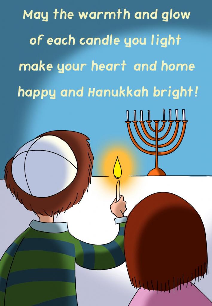 Free Printable Hanukkah Bright Greeting Card | Paperie | Hanukkah | Printable Hanukkah Cards To Color