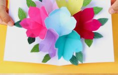 Free Printable Happy Birthday Card With Pop Up Bouquet – A Piece Of | Free Printable Birthday Cards For Mom