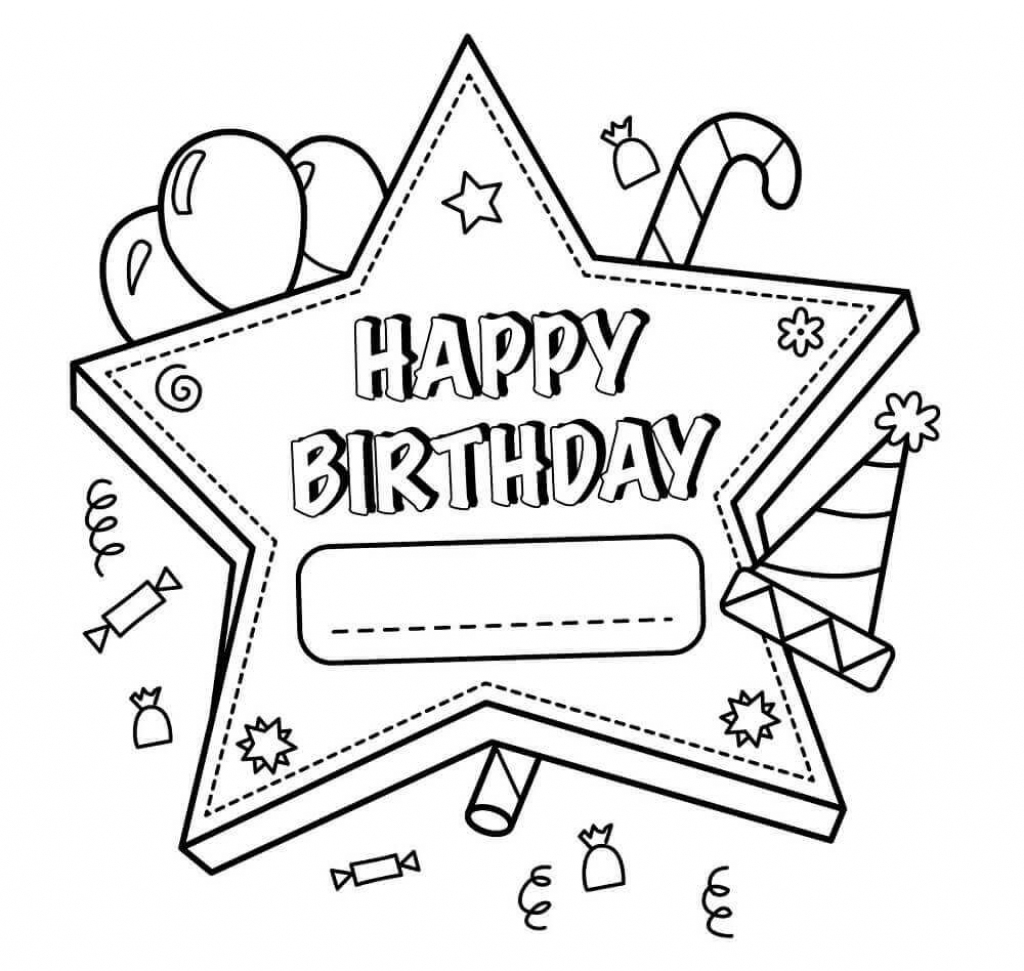 Free Printable Happy Birthday Coloring Pages For Teachers   Birthday   Printable Coloring Birthday Cards