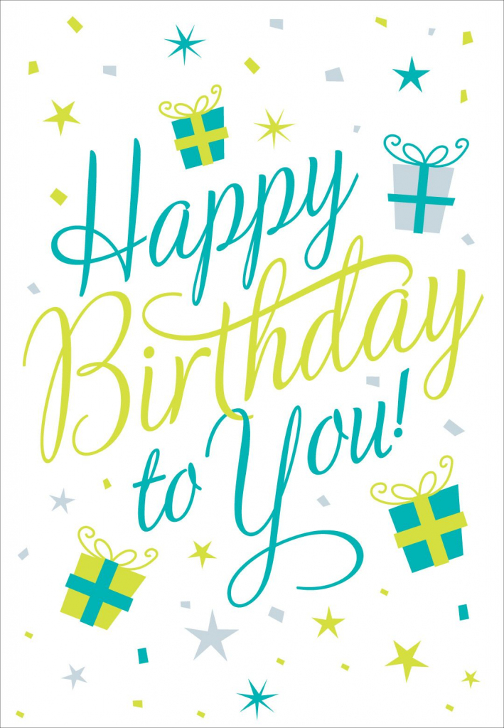 Free Printable Happy Birthday To You Greeting Card #birthday | Free Printable Happy Birthday Cards