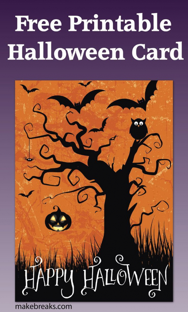Free Printable Happy Halloween Card Or Party Invitation   Halloween   Free Printable Halloween Cards
