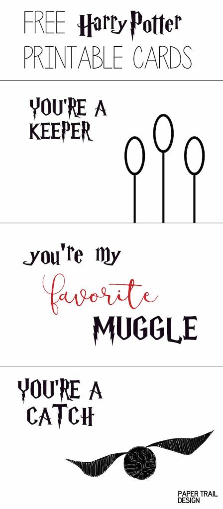 Free Printable: Harry Potter Cards   Valentine's Day *freebies 4 Mom   Harry Potter Birthday Card Printable