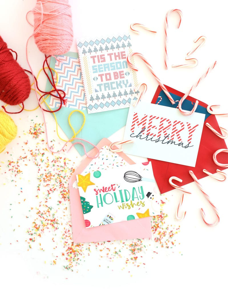 Free Printable Holiday Cards With Canon | Damask Love | Printable Holiday Photo Cards