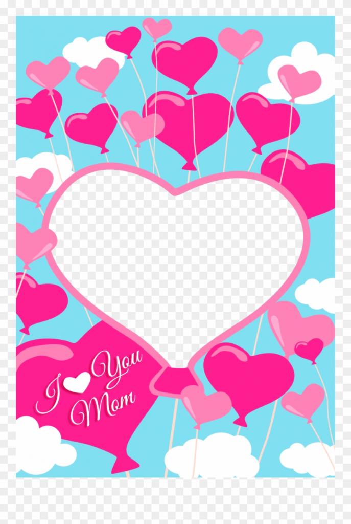 Free Printable I Love You Mom Greeting Card With Add - Mom Greeting   Free Printable Love Greeting Cards
