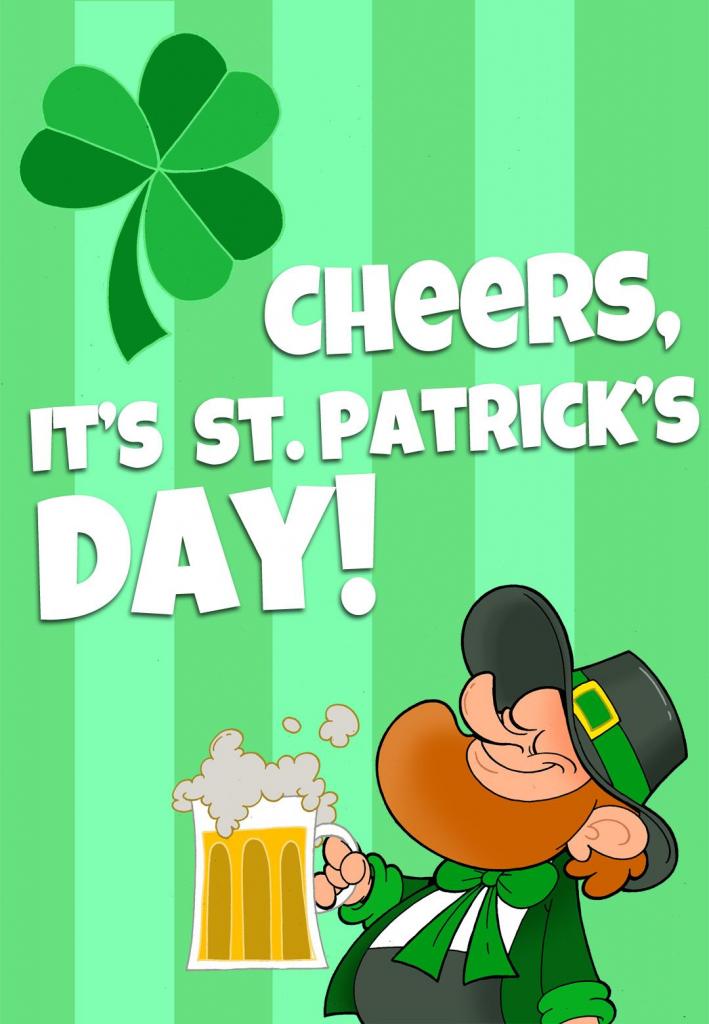 Free Printable 'its St Patricks Day' Greeting Card   Printable St   Free Printable St Patrick's Day Card