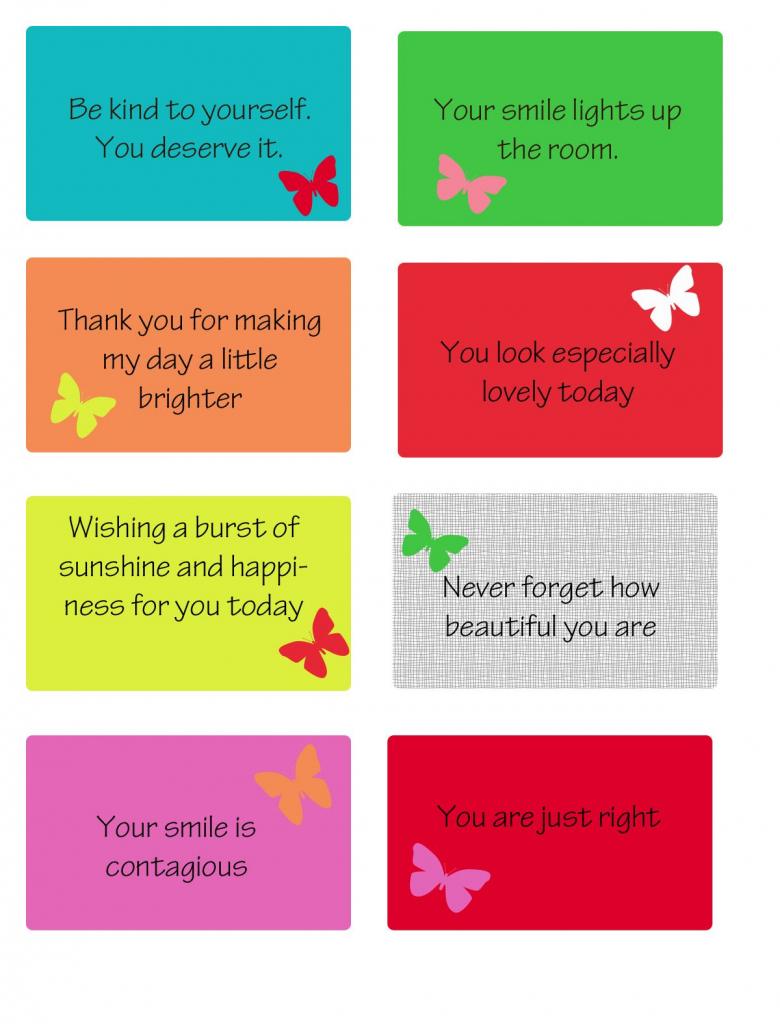 Free Printable Kindness Cards | Random Love | Kindness Activities | Free Printable Kindness Cards
