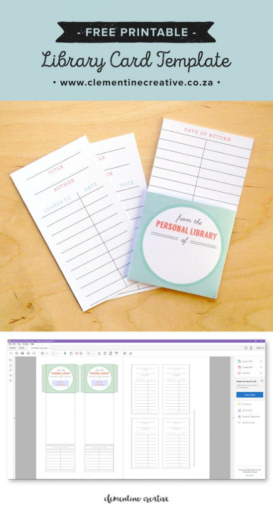 Free Printable Library Cards | Printables | The Best Downloads | Printable Library Card Template
