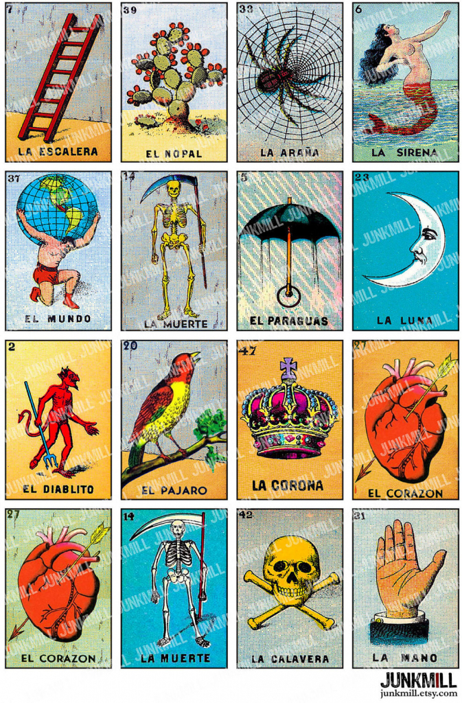 Free Printable Mexican Loteria Cards - Printable Cards | Printable Loteria Game Cards