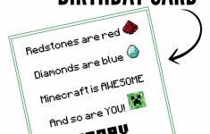 Free Printable Minecraft Birthday Card | Papercrafting | Minecraft | Minecraft Birthday Card Printable