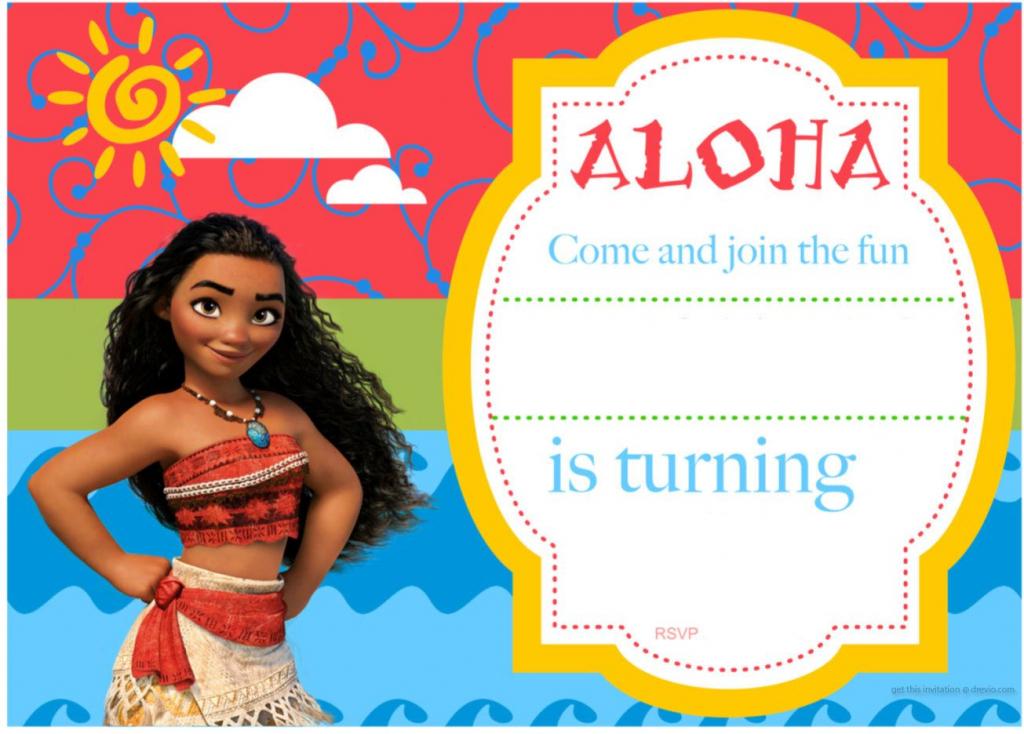 Free Printable Moana Birthday Invitation And Party | Free | Moana Birthday Card Printable