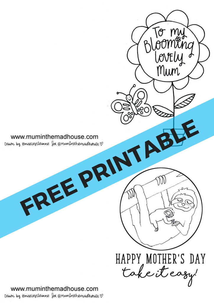 Free Printable Mother's Day Cards To Colour - Mum In The Madhouse   Printable Mothers Day Cards For Kids To Color