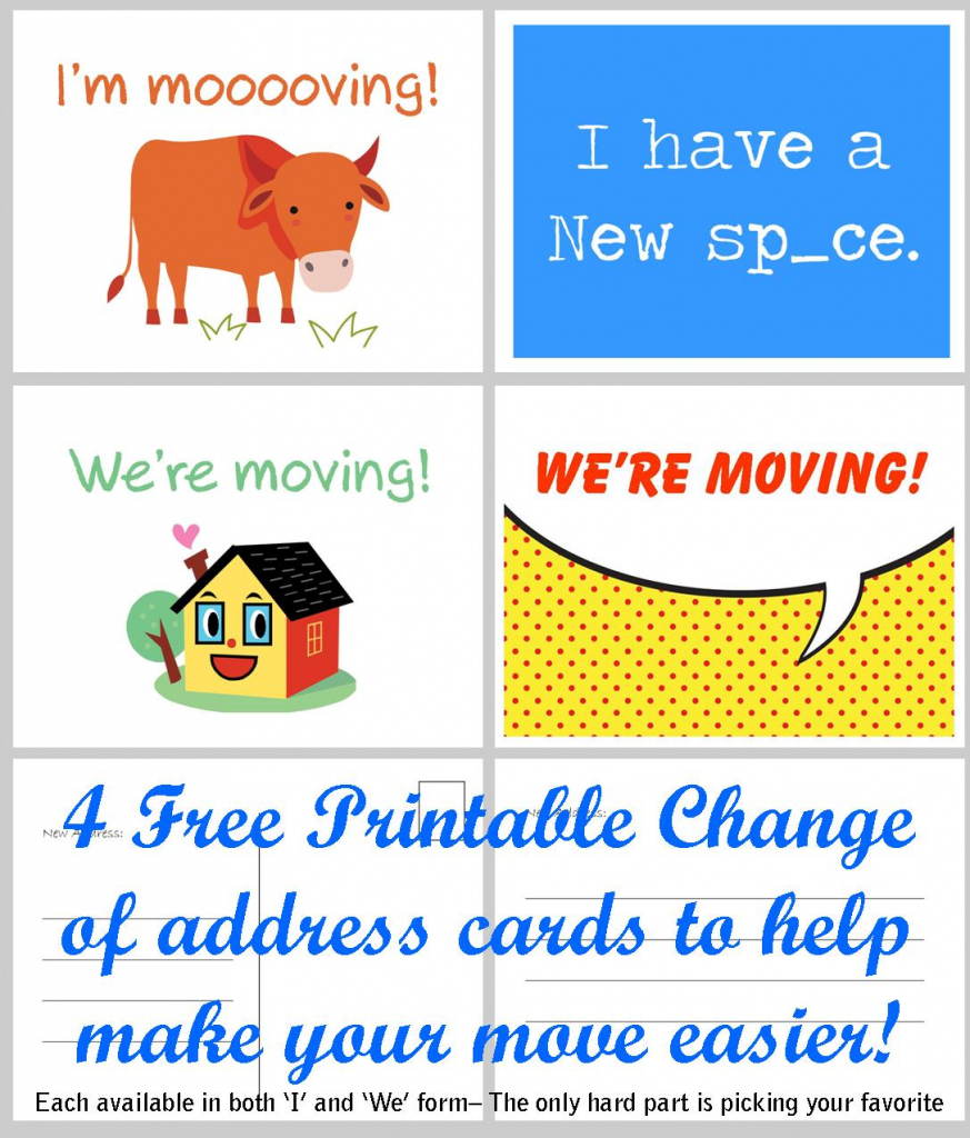 Free Printable Moving Announcement Change Of Address Card – Premier | We Are Moving Cards Free Printable