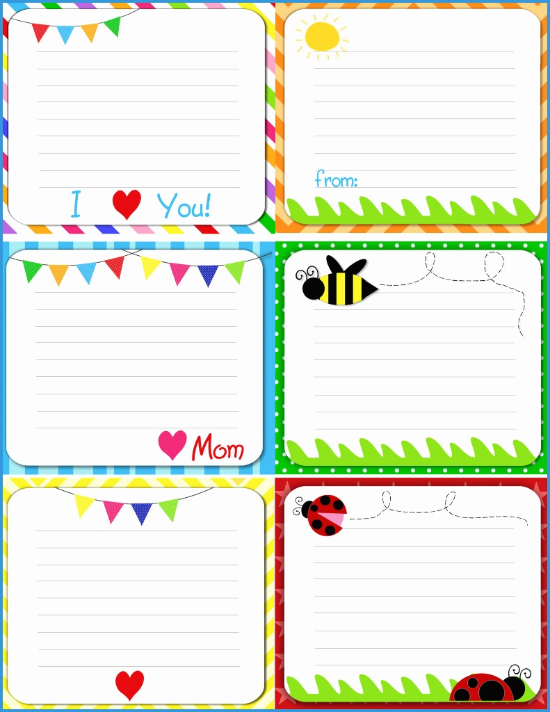 Free Printable Note Cards Template - Canas.bergdorfbib.co | Free Printable Note Cards