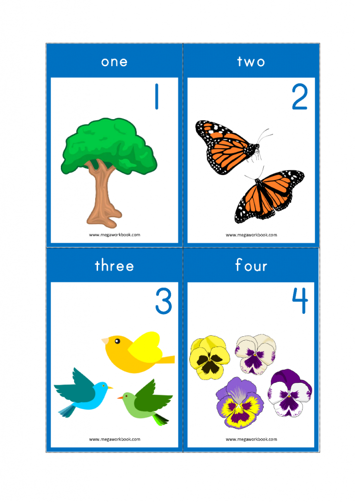 Free Printable Number Flashcards - Counting Flashcards 1-10 For Kids | Counting Flash Cards Printable