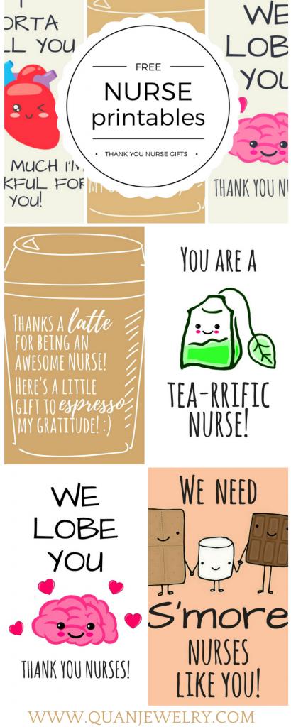 Free Printable Nurse Appreciation Thank You Cards | $$ Best Shop | Nurses Week 2016 Cards Free Printable