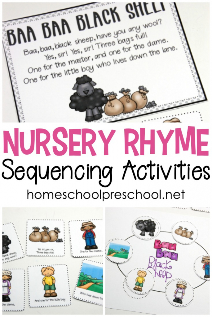 Free Printable Nursery Rhyme Sequencing Cards And Posters   Rhyming Picture Cards Printable