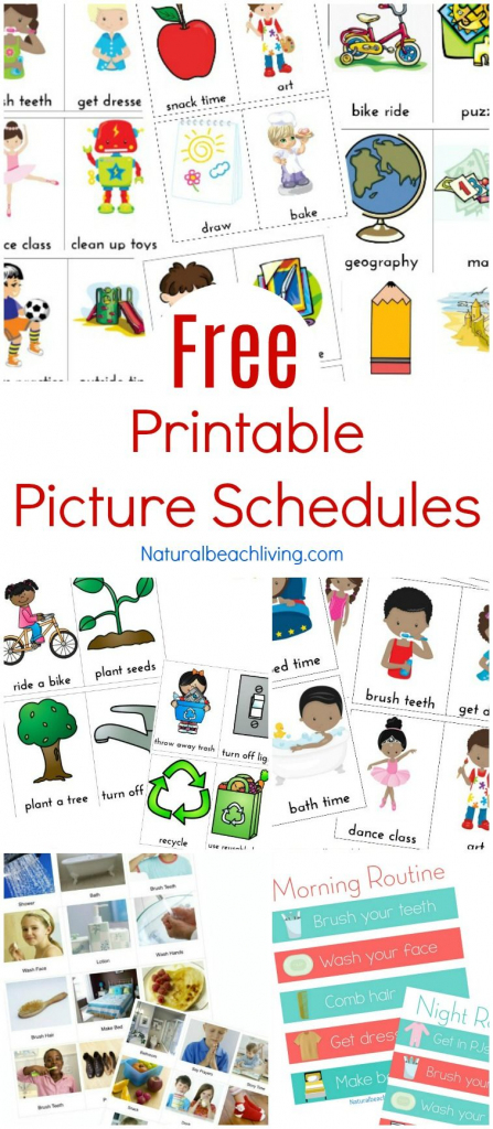 Free Printable Picture Schedule Cards - Visual Schedule Printables   Free Printable Daily Routine Picture Cards