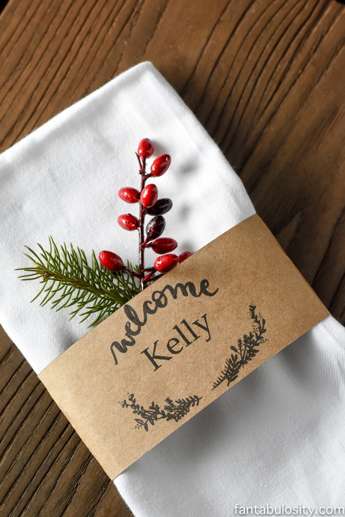 Free Printable Place Cards & Customizable Download For Names!   Free Printable Place Card Templates Christmas