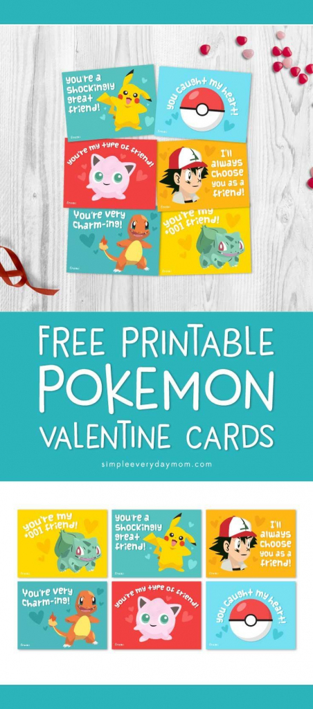 Free Printable Pokemon Valentines Cards Your Kids Will Be Begging   Free Printable School Valentines Cards