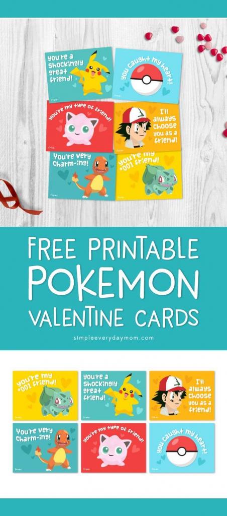 Free Printable Pokemon Valentines Cards Your Kids Will Be Begging | Pokemon Valentine Cards Printable