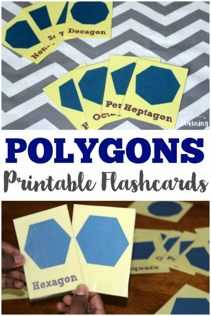 Free Printable Polygon Flashcards | Look! We're Learning | Geometric Shapes Printable Flash Cards