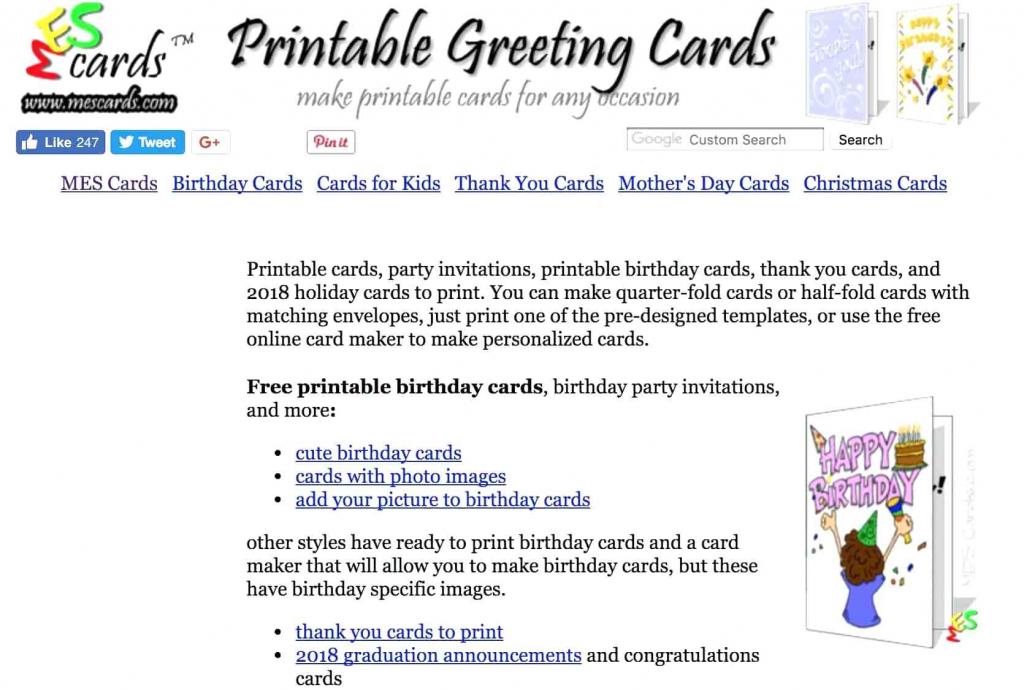 Free Printable Quarter Fold Christmas Cards – Festival Collections | Free Printable Quarter Fold Christmas Cards
