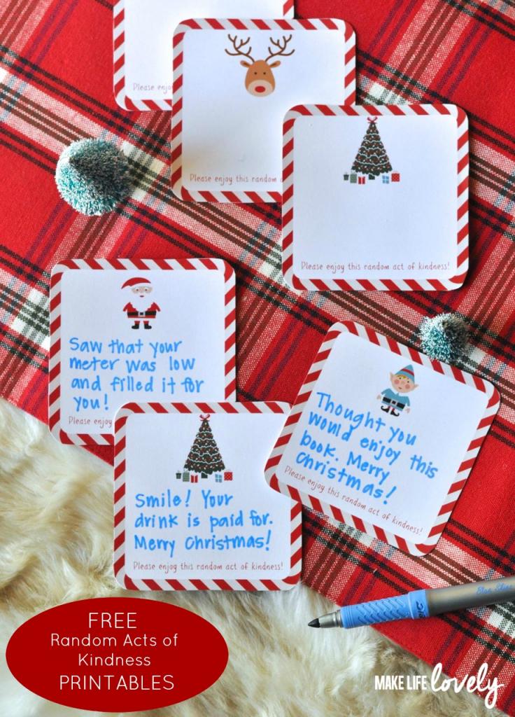 Free Printable Random Act Of Kindness Cards - Make Life Lovely | Free Printable Kindness Cards