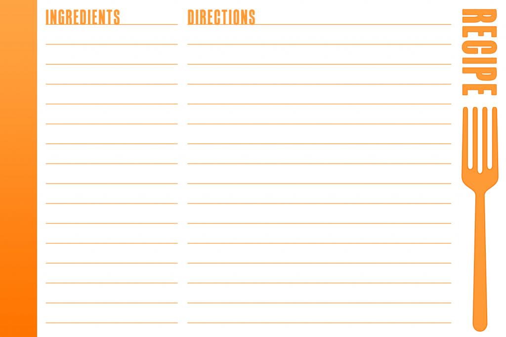 Free Printable Recipe Card   Bake Sale Flyers – Free Flyer Designs   Printable Recipe Card Template