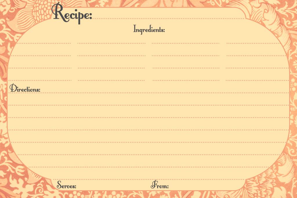 Free Printable Recipe Cards   Call Me Victorian   Printable Vintage Recipe Cards