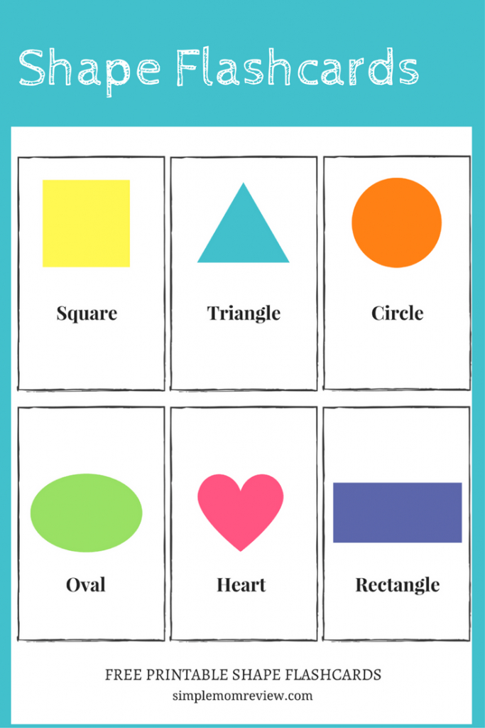 Free Printable: Shapes - Simple Mom Review   Printable Shapes Flash Cards
