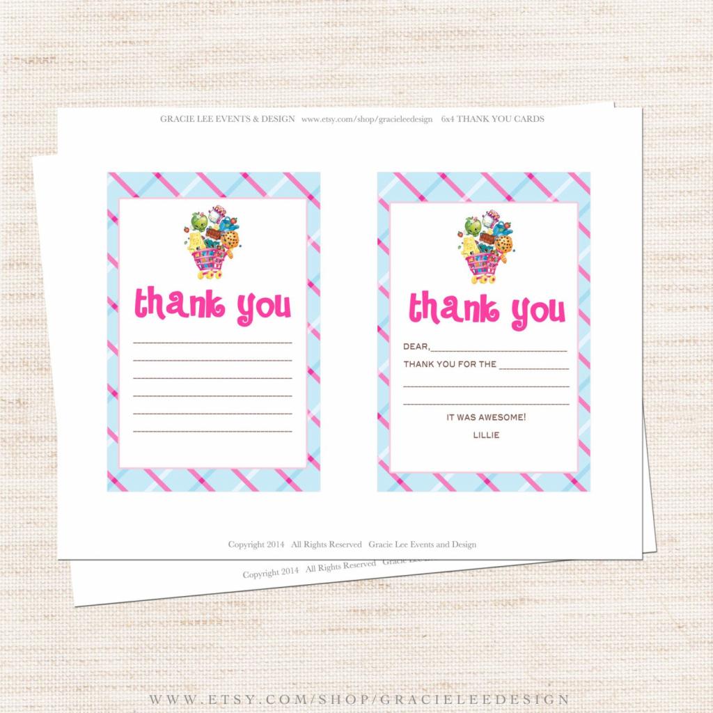 Free Printable Shopkins Thank You Card Halegrafx - Oukas   Free Printable Shopkins Thank You Cards