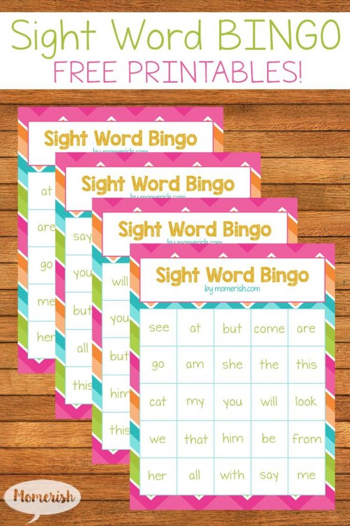 Free Printable Sight Word Bingo Game | Classroom | Sight Word Bingo | Vocabulary Bingo Cards Printable