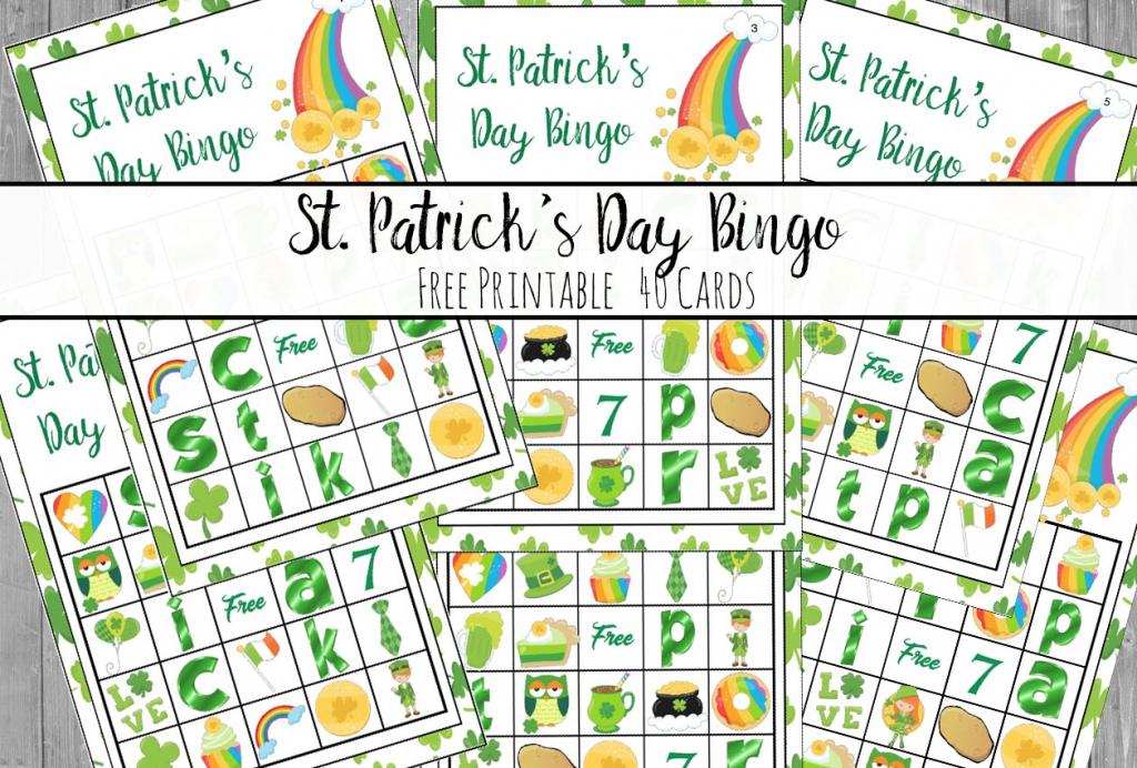 Free Printable St. Patrick's Day Bingo: 40 Cards   Free Printable St Patrick's Day Card
