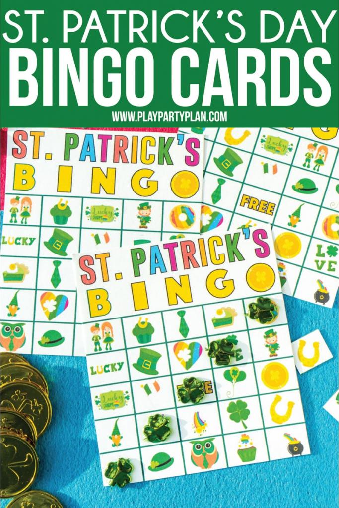 Free Printable St. Patrick's Day Bingo Cards - Play Party Plan   Free Printable St Patrick's Day Card