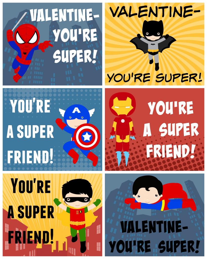Free Printable Superhero Valentines   Bloggers' Best Diy Ideas   Free Printable Superman Valentine Cards