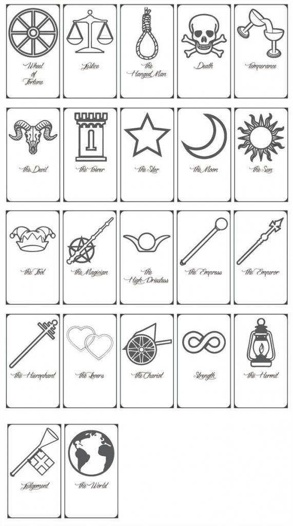 Free Printable Tarot Cards!keniakittykat On Deviantart | Printable Tarot Cards To Color