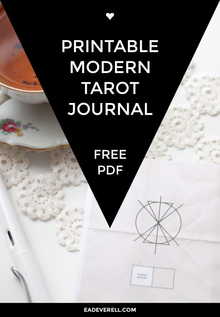 Free Printable Tarot Journal | Creative Writing Blog | Printable Tarot Cards Pdf Free