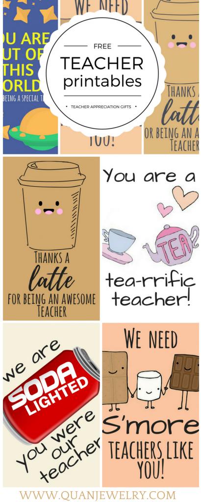 Free Printable Teacher Appreciation Thank You Cards | Teacher Gift | Printable National Teacher Appreciation Week Cards