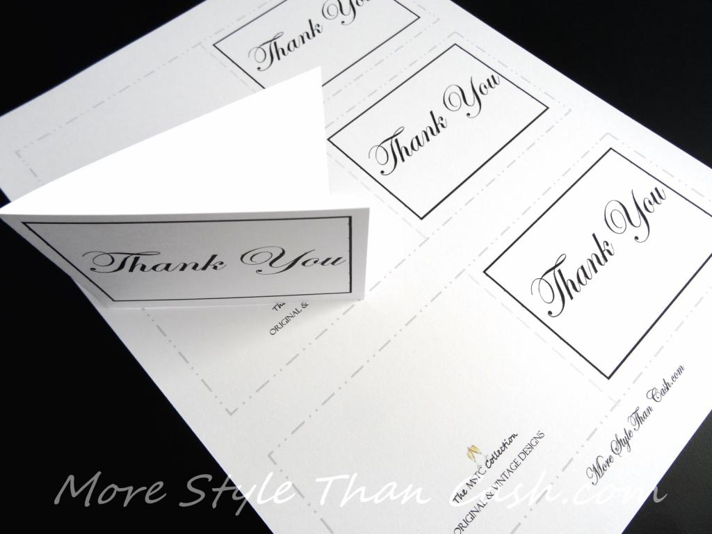 Free Printable Thank You Card | Printable Thank You Cards Pdf