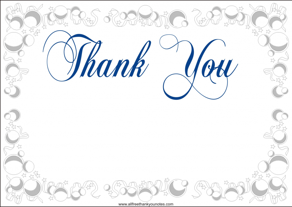 Free Printable Thank You Card Template - Under.bergdorfbib.co | Thank You Card Free Printable Template