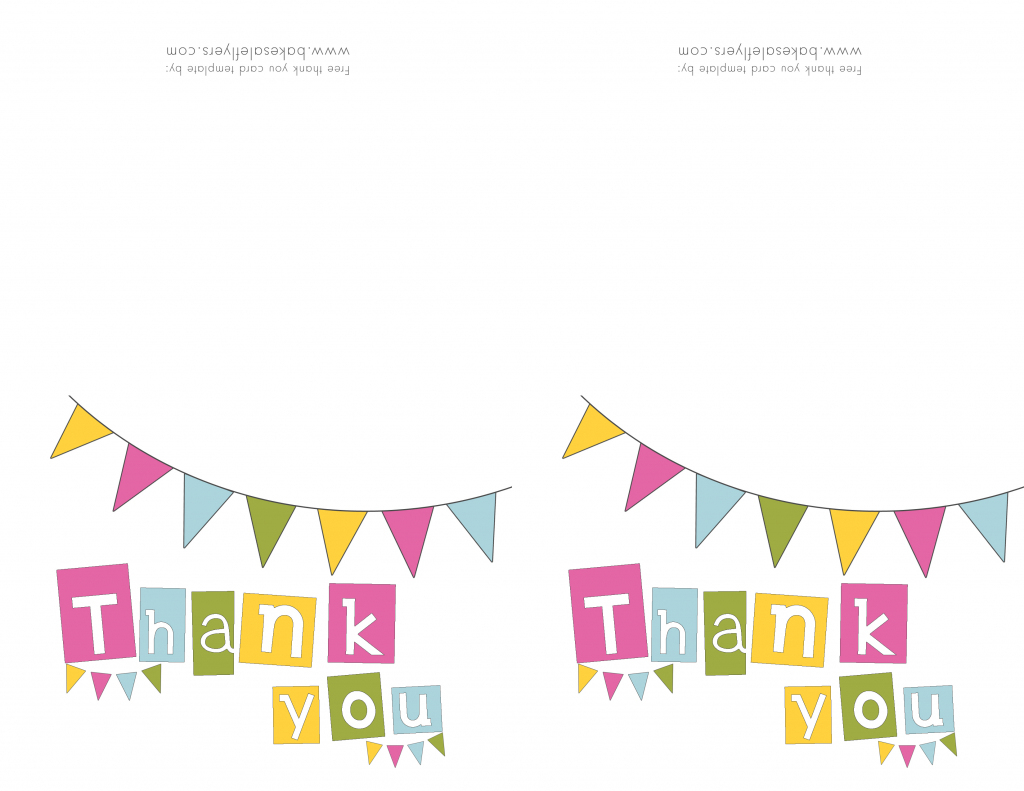 Free Printable Thank You Cards | Bake Sale Flyers – Free Flyer Designs | Printable Photo Thank You Card Template