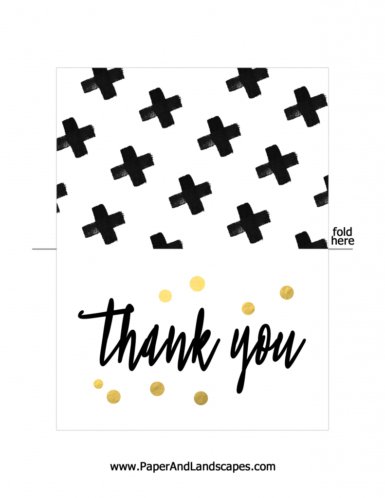 Free Printable Thank You Cards - Paper And Landscapes   Free Printable Thank You Cards